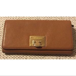 Michael Kors Pebble Leather Fold-Over Wallet